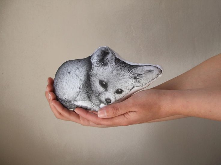 fox fennec shaped plush children room decor hand painted soft toy nursery decor black and white realistic stuffed animal by MosMea on Etsy https://www.etsy.com/listing/190959016/fox-fennec-shaped-plush-children-room