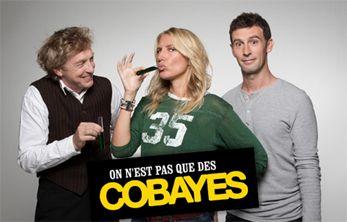 On n'est pas que des cobayes : David Lowe, Agathe Lecaron, Vincent Chatelain / France 5, une chaîne qui vous veut du bien - article photogeniques.fr