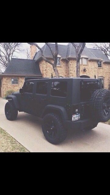 Matte Black Jeep Wrangler Unlimited