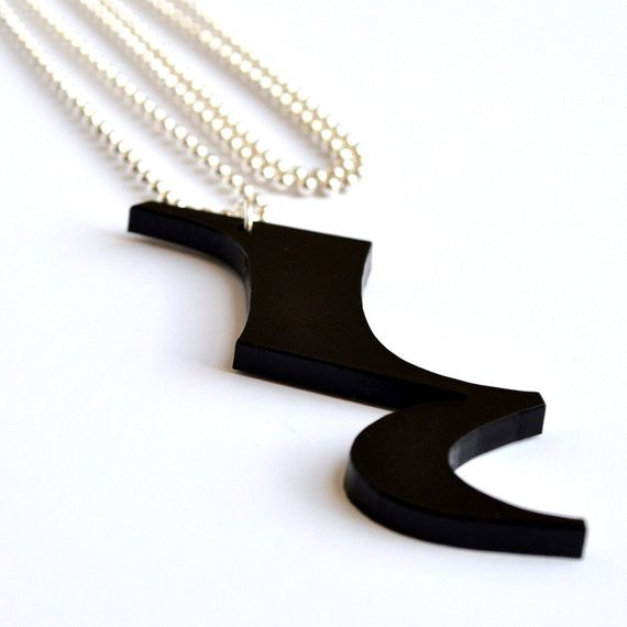 Plexiglass Jewellery  Laser Cut Acrylic Black Quarter by mARTket