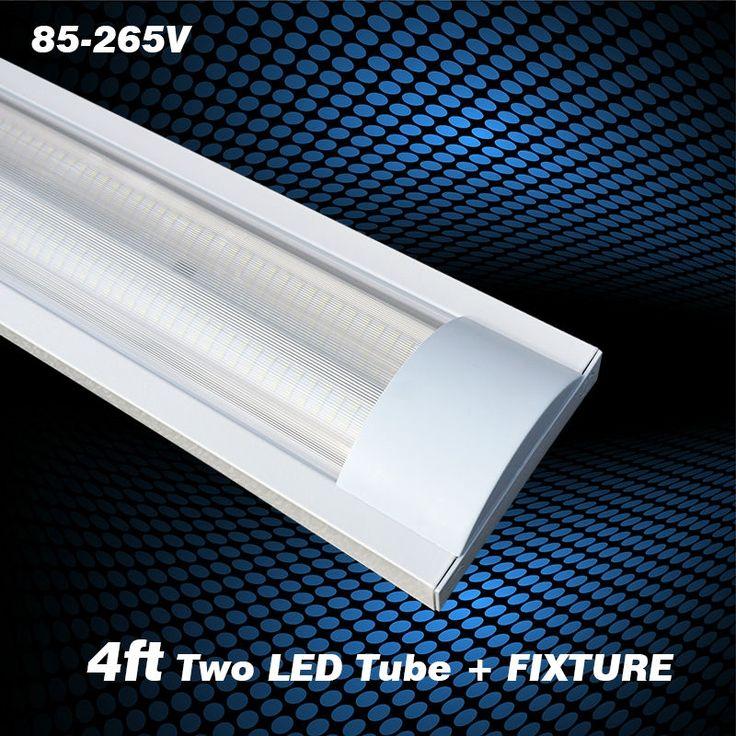 T8 Double Light Fixture: 17 Best Ideas About Led Tube Lights On Pinterest