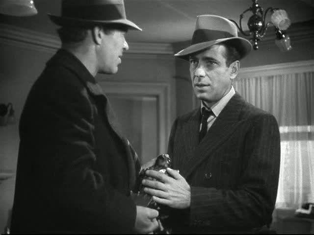 Actors Ward Bond And Humphrey Bogart The Maltese Falcon Humphrey