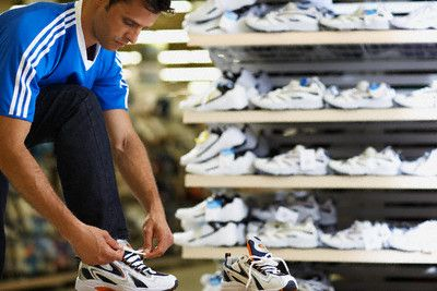 Man Shopping for Shoes