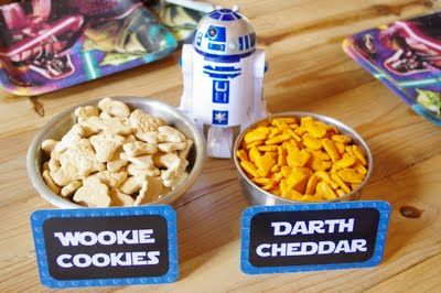 Star Wars snacks from our party