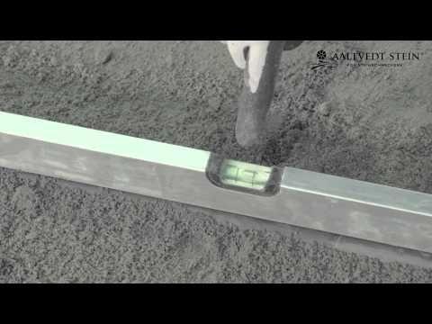 Grunnarbeid for heller, belegningsstein og Gravelfix - YouTube