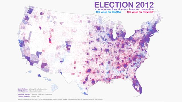 This is the most accurate American election map we've seen yet
