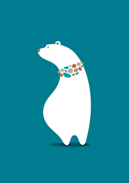 Polar Bear Art Print by vaughn shim | Society6