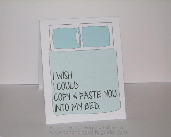I miss you card Long distance Relationship door PersonalPaperHugs