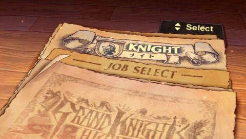 Grand Knights History Job Select Screen