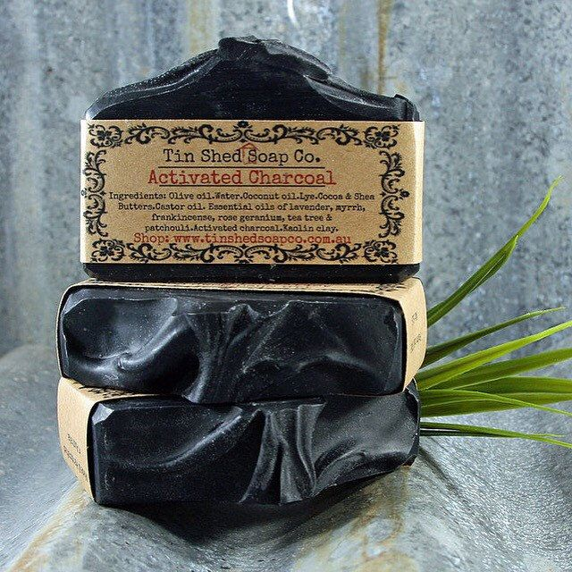 New! Natural Activated Charcoal Handmade Soap  Great for problem skin - use on face or body.