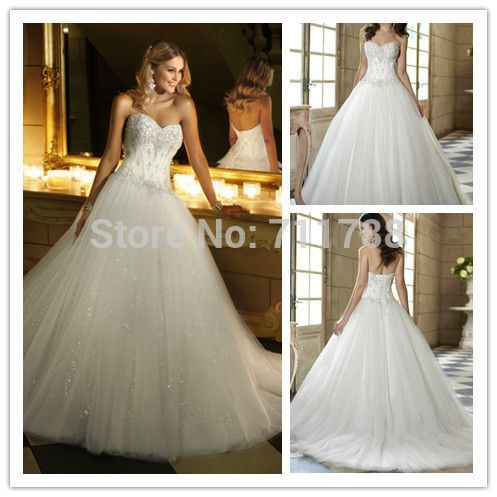 Find More Wedding Dresses Information About Sparkling Sexy Sweetheart Off Shoulder Sleeveless A Line Ivory Beaded