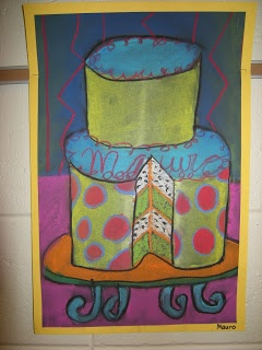 WHAT'S HAPPENING IN THE ART ROOM??: 5th Grade Cakes
