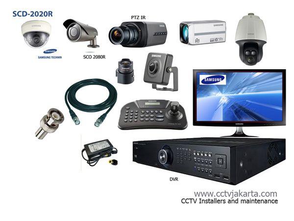 Peralatan instalasi kamera cctv yang umumnya digunakan; Dome kamera, Outdoor kamera, PTZ, Mini kamera pinhole, keyboard controller, coaxial cable, BNC Adaptor www.cctvjakarta.com