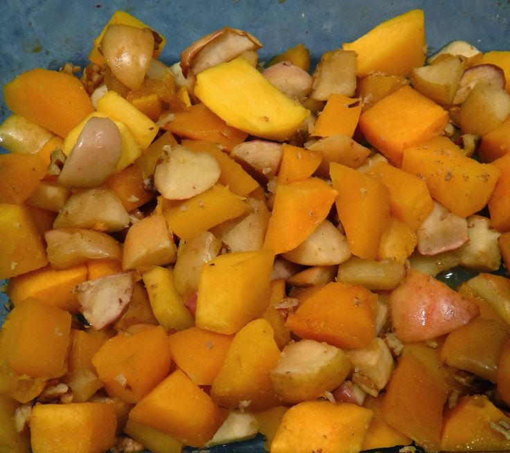 Maple Roasted Butternut Squash and Apples with Pecans | The Natural ...