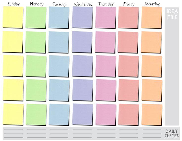 week time schedule template
