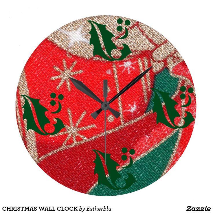 CHRISTMAS WALL CLOCK RELOJ REDONDO GRANDE