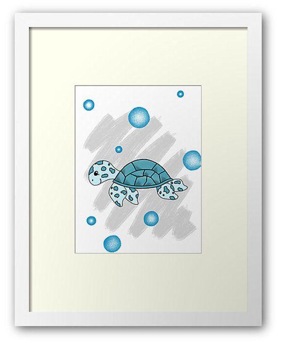Sea Turtle Printout / Wall art nursery by PocketFulOfPrintouts
