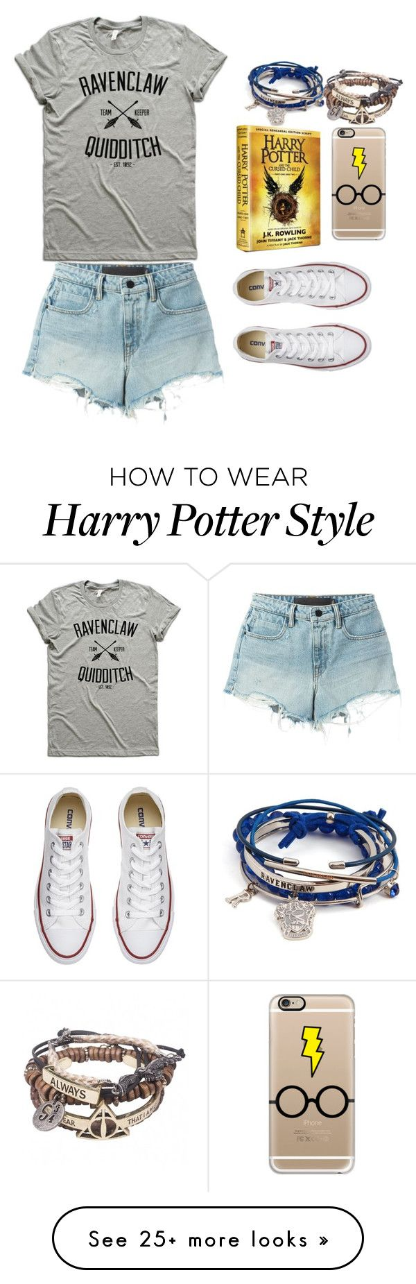 """HARRY POTTER AND THE CURSED CHILD"" by hogwartshermione on Polyvore featuring Casetify, T By Alexander Wang and Converse"