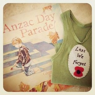 For a dear little one year old marching on Anzac Day.