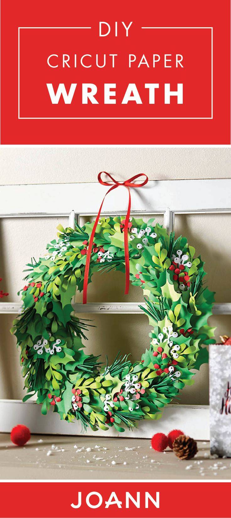 Marvelous Ready For A Holiday Decoration That Will Last Through More Than The Season?  Check Out This DIY Cricut Paper Wreath From JOANN! Decorate Any Room Of  Your ...