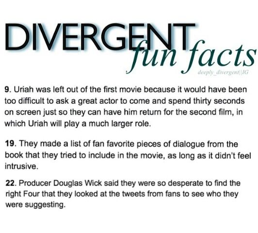 1. If Uriah isn't in Insurgent, I'm gonna flip. 2. YAY! 3. Theo James was an amazing pick in my opinion.