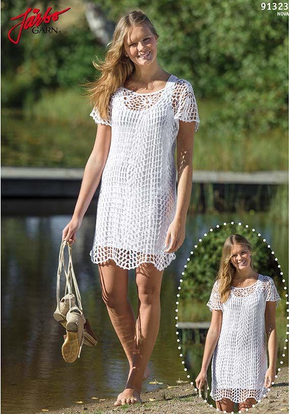 FREE PATTERN 91323. Grid crochet dress in Nova