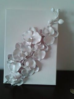 Spray paint on fake flowers. #OMG This is such a cheap and easy project :)