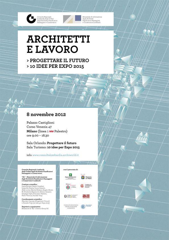 """""""Architetti e lavoro"""", 2012  - progetto grafico 46xy"""