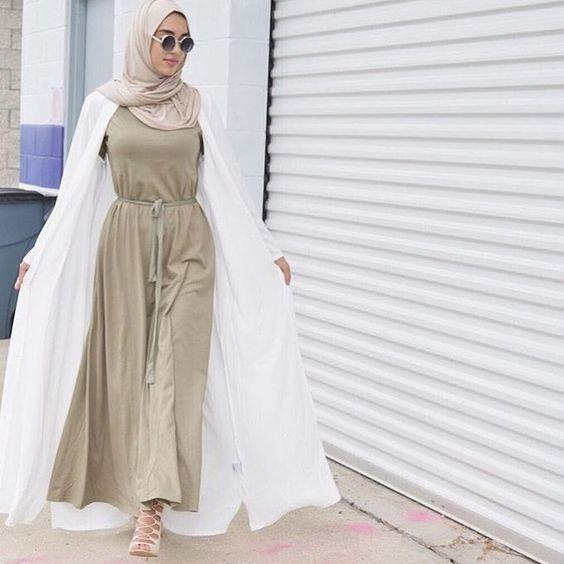 Muslim Women Full Cover Cotton Jersey Hijab Long Scarf (Cream)-Hijab Fashion