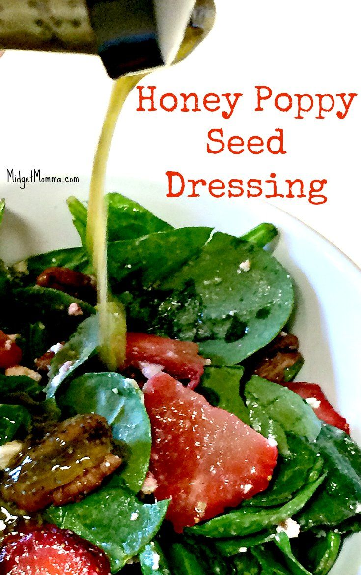 This Easy Honey Poppy Seed Salad Dressing Recipe is my favorite Poppy seed Salad dressing. Homemade and easy to make Honey Poppy Seed Salad Dressing that goes perfect with so many salads including my Strawberry Spinach Avocado Walnut Salad.