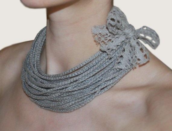 Linen crochet & natural linen lace