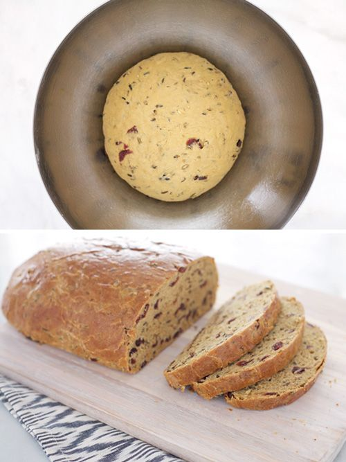 Pair this Cranberry Wild Rice Bread with peanut butter, jam, or butter for a delicious snack.