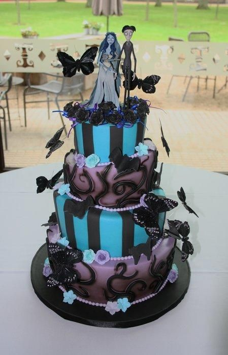 Corpse Bride Topsy Turvy by Sweetlake Cakes
