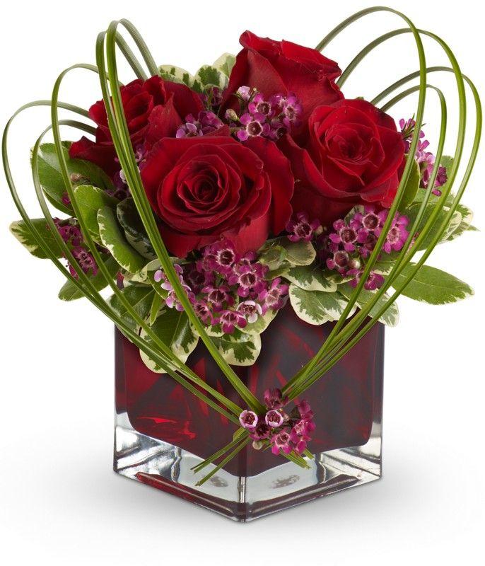 valentine floral arrangements - Google Search