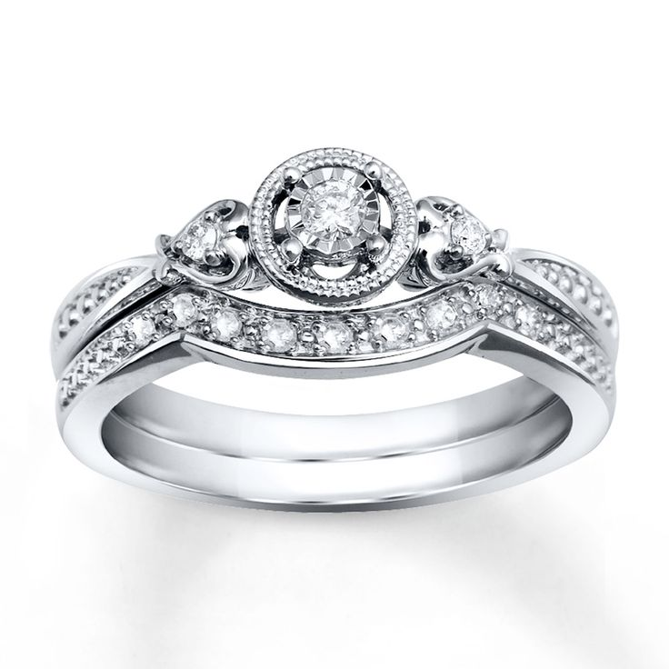 Popular Jo us ring Diamond Bridal Set ct tw Round cut White Gold By far my favorite ring yet Its at Kays