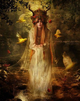 "Goddess Abnoba | Goddess of the Black Forest. Her celtic name is related to the word for river and is the source of the English river name ""Avon"""