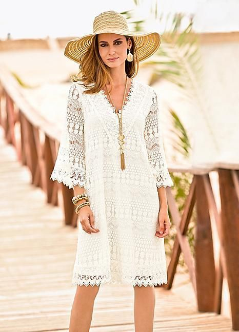 NEW KALEIDOSCOPE TOGETHER FLUTED SLEEVE CREAM LACE DRESS 12 to 20