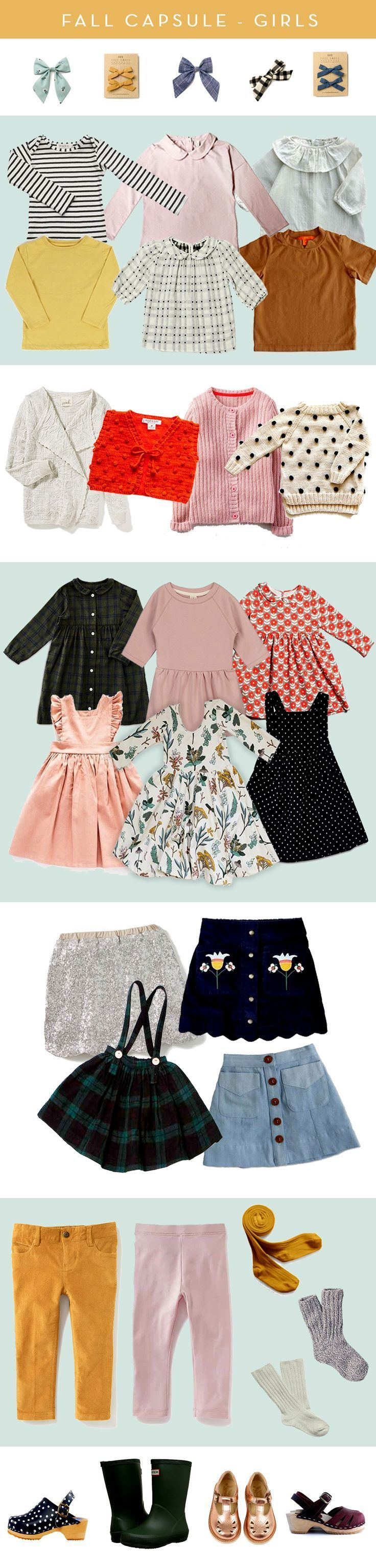 Fall Capsule: Little Girl Style. // Soor Ploom, Alice and Ames, Free Babes Handmade, Hunter Boots, Mabo Kids and more!! Fashion for your little adventurer.