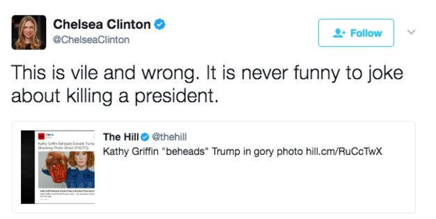 Chelsea Clinton Tweet | Kathy Griffin's Beheaded Trump Picture | Know Your Meme