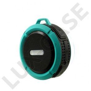 C6 Vedenkestävä Bluetooth Kaiutin Pyörätelineellä – Sininen