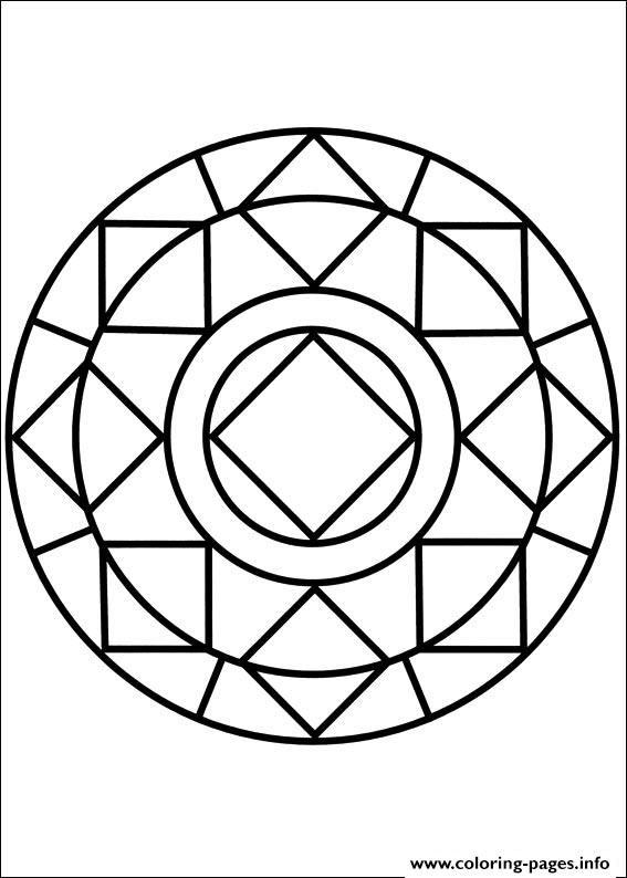 Print easy simple mandala 85 coloring pages