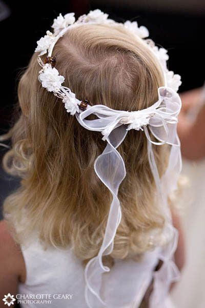 14 Best Flower Girl Hair Images On Pinterest | Floral Crowns Flower Girls And Kid Hairstyles