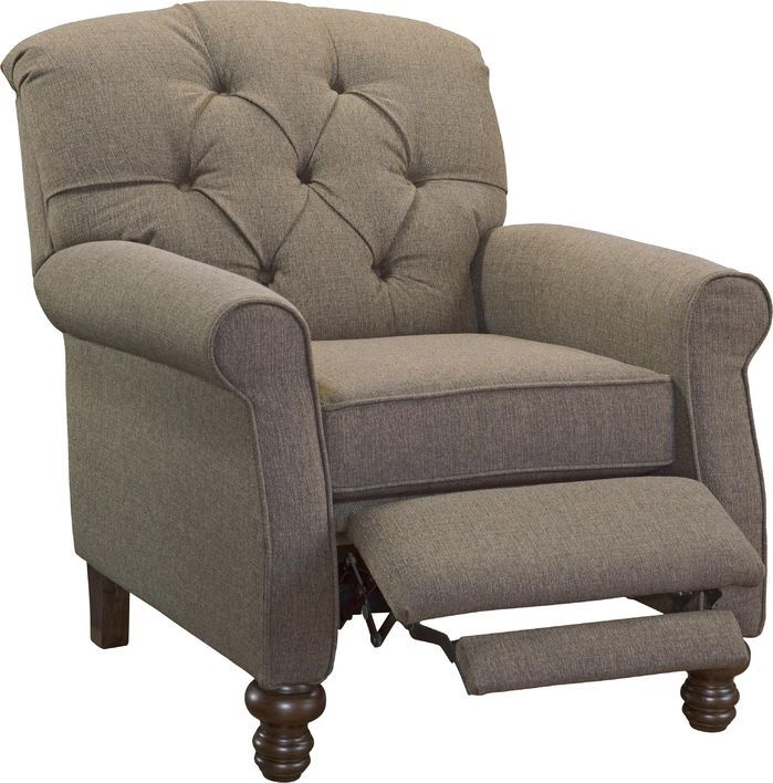 Features:  -Made in the USA.  -Push back recliner.  Country of Manufacture: -United States.  Upholstery Material: -Polyester/Polyester blend.  Frame Finish: -Espresso.  Frame Material: -Wood. Dimensio
