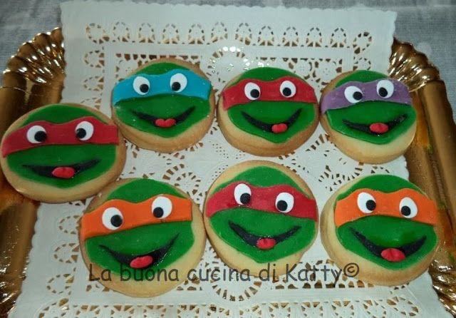 La buona cucina di Katty: Torta Tartarughe Ninja all'attacco - Cake Ninja Turtles attack
