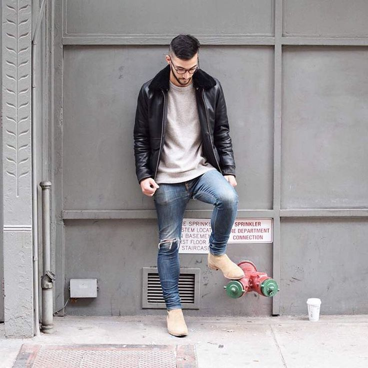 """Fashiorismo   Men's Fashion on Instagram: """"""""I'd describe my style as casual contemporary. I tend to stick to boots, dry denim and leather."""" For more fashion stories check out @ny.streetfashion Going around New York City finding the best street styles in town! """""""