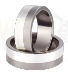 Obrączki ślubne z tytanu i srebra / Wedding rings made from titanium and silver / 1 180PLN / #wedding #weddingtime #weddingrings #jewellery