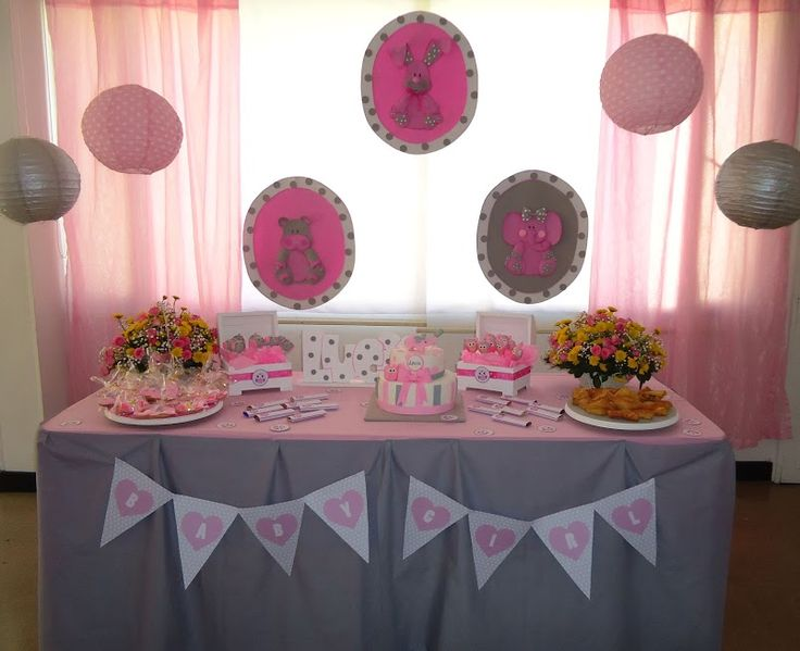 decoracion baby shower niña, baby shower elefante,