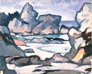 Rocks at Iona - Samuel John Peploe - The Athenaeum