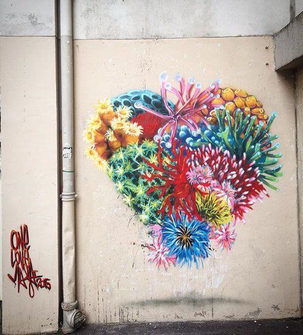 Opera realizzata dallo street artist inglese Louis Masai Michel a Parigi.
