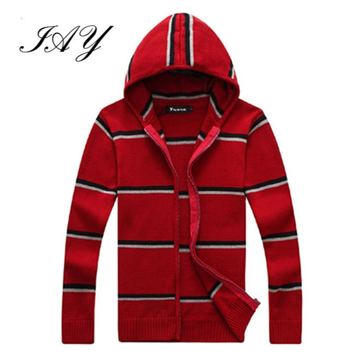 2015 Hot Sale casual Striped Men Sweater zipper computer Knitted Tops fashion hooded Cardigan homme autumn coat